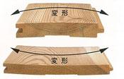 木材の変形の例